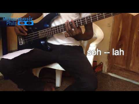 Popular bass line groove in A minor for highlife style
