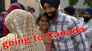 from Punjab to Canada 🇨🇦my cousin son going to Canada jaanmahal