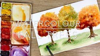 Watercolour Fall Trees