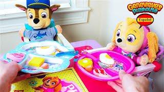 Video Educativo para Niños! Juguetes Paw Patrol Skye y Chase!