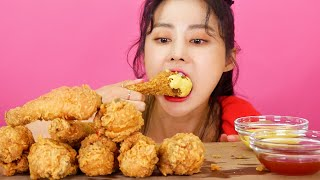 MUKBANG ASMR   Beat Crispy! BBQ Golden Olive Fried Chicken🍗Eat Korean Eatingshow 아라 Ara Realsound