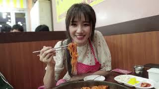 (한)Hari Won - Siêu Ham Ăn | Gà phô mai cay Hàn Quốc (du lịch Seoul) 하리원-시우함안ㅣ한국치즈붉닭(서울여행)