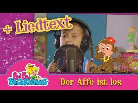 CUTE BABY MILEY- Der Affe ist los  Video mit Liedtext /Karaoke /Bibi Blocksberg Hörspiel