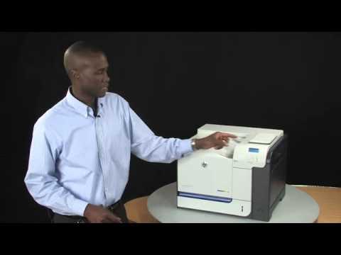HP LaserJet Enterprise 500 color M551Series Completo video de demostração da impressora