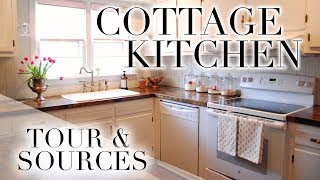 COTTAGE KITCHEN TOUR WITH SOURCES 🌷
