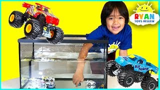Ryan Pretend Play Learn Colors with Trucks Car Wash and Number Counting!