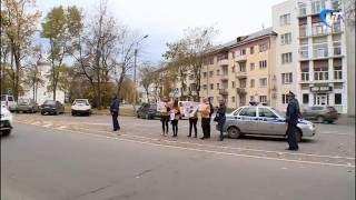 Сотрудники Госавтоинспекции и новгородские школьники провели профилактическую акцию