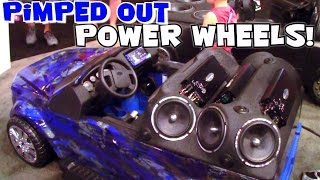 Worlds Most Expensive POWER WHEELS Cars? Custom 12v Sound System Installs & Fiberglass Body Work