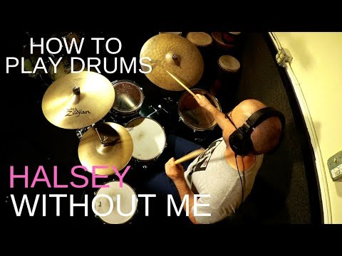"""In this video I teach the viewer how to play the beat from Halsey's hit song """"Without Me""""."""