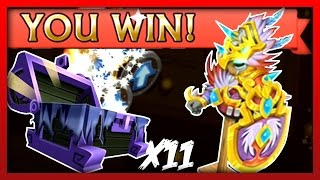 "Knights and Dragons - Redeeming + Leveling ""Kachina Featherplate!"" + 11 Spiritstone Chests Opening!"