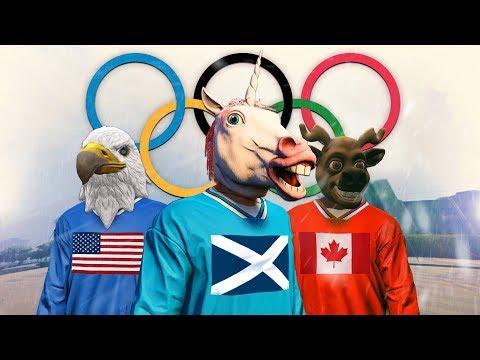 GTA 5 WINTER OLYMPICS 2018!! - GTA 5 Funny Moments
