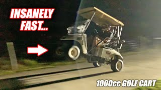 Build Wars DAYS 4 & 5: FIRST RIP In Our 1000cc Street Bike Powered Golf Cart!! (IT'S INSANE)