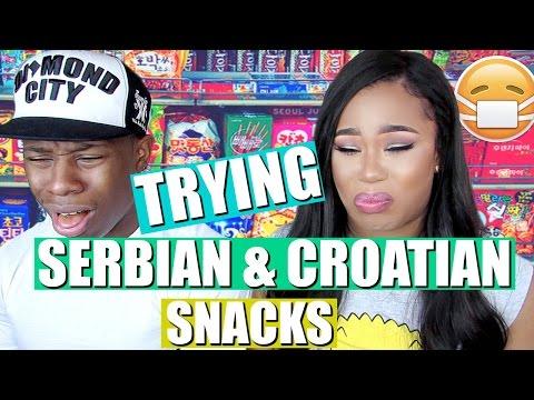 AMERICANS TRY WEIRD FOREIGN SNACKS | SERBIAN/CROATIAN ♥ BeautybyGenecia