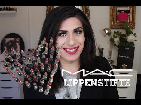 MAC Lippenstift Sammlung 60+ & Lippen Swatches | JJ ♡