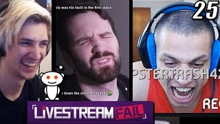 "xQc Reacts to Funny Clips From ""Reddit: LiveStreamFail"" with Chat 