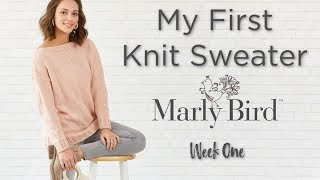 My First Knit Sweater KAL Week 1