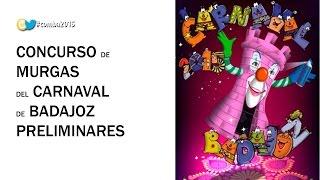 preview picture of video 'Preliminares Concurso de Murgas Carnaval de Badajoz 2015 (1er día)'