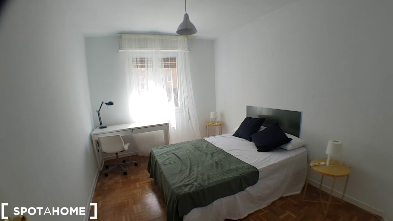Single Bed in Gorgeous rooms for rent in in modern flatshare in Guindalera, near Metro