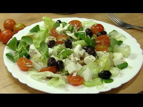 Como preparar una ensalada de canónigos y mozzarella