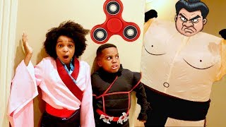 FIDGET SPINNER KARATE ADVENTURE!!! - Shiloh and Shasha - Onyx Kids