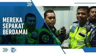 Setelah Videonya Viral, Polantas dan Ojek Online di Bogor Sepakat Berdamai