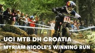 UCI MTB 2018: Myriam Nicole's winning downhill run in Croatia.