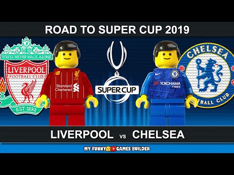 Road To UEFA Super Cup 2019 • Liverpool vs Chelsea • Istanbul 2019 • Lego Football Animation