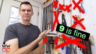 How many clamps do you REALLY need? Woodworking basics.