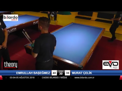 EMRULLAH BAŞEĞMEZ & MURAT ÇELİK Bilardo Maçı - CADDE BİLARDO 3 BANT ÖZEL TÜRKİYE ŞAMPİYONASI-4. Tur