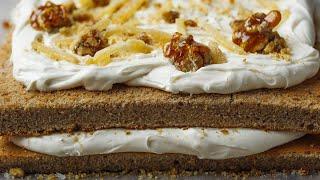 Walnut-Maple Layer Cake