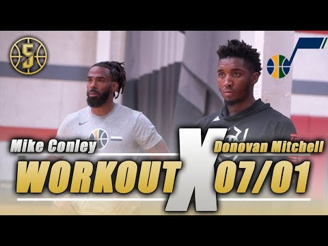 Donovan Mitchell and Mike Conley Utah Jazz Workout