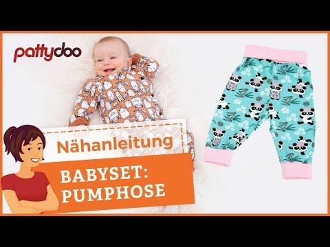 Nähanleitung Baby Pumphose - Jersey nähen mit der Nähmaschine - Für Anfänger