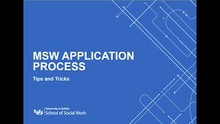 MSW application process