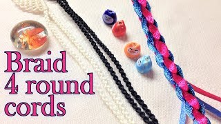 Macrame Tutorial How To Braid 4 Round Cords For Necklace