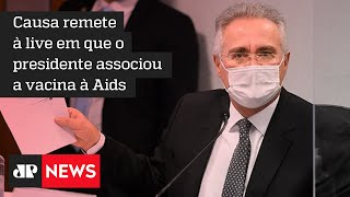 Renan Calheiros propõe que Bolsonaro seja banido das redes sociais