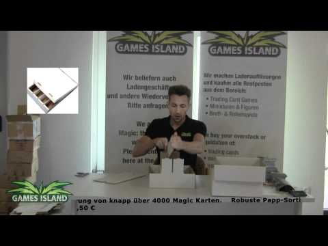 Games Island | Papp-Sortierkiste für ca. 4000 Karten | Magic- Yu-Gi-Oh! -World of Warcraft