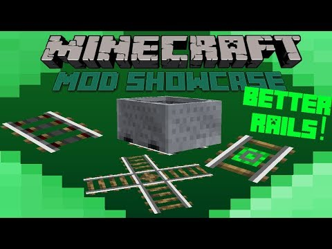 Minecraft Mod Showcase- BETTER RAILS! AWESOME TRACKS!