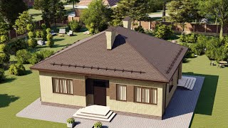 Проект дома 114-A, Площадь дома: 114 м2, Размер дома:  12,2x10,5 м