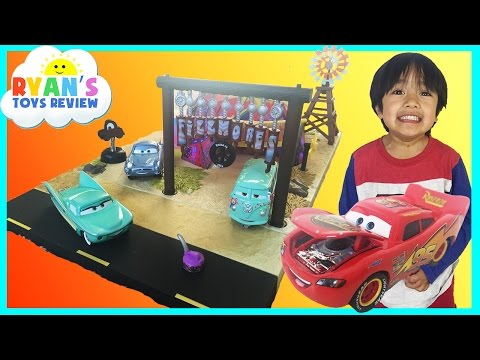 Disney Cars Toys Precision Series Fillmore's Taste In Cafe Play Set