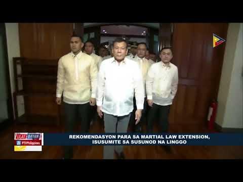 Rekomendasyon para sa Martial law extension, isusumite sa susunod na linggo