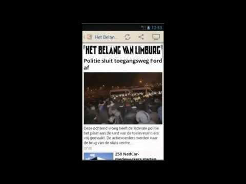 Video of België Kranten