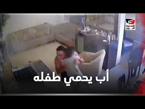 مشهد مؤثر .. أب يحمي طفله من تأثير الانفجار في بيروت