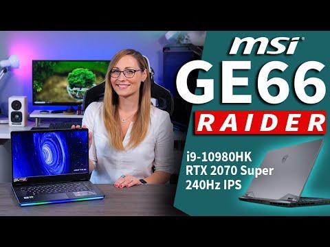 External Review Video Arj0qs478Uk for MSI GE66 Raider Gaming Laptop (10th-Gen Intel)