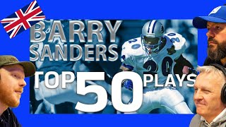 Barry Sanders Top 50 Most Ridiculous Plays of All-Time REACTION!!   OFFICE BLOKES REACT!!