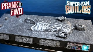 Han Solo in Carbonite - Star Wars Coffin Coffee Table - SUPER FAN BUILDS -  Prank It FWD