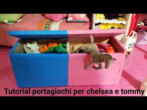Tutorial cassapanca porta giochi chelsea tommy -  barbie