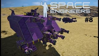 Space Engineers #8 ~ Mobile Space Base Ship & Upgraded Miner