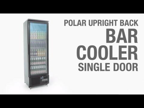 Video Polar GJ447 bardisplay met enkele deur, 307 liter