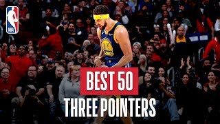 NBA's Best 50 Three Pointers | 2018-19 NBA Season