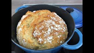 Brot backen ohne kneten, no knead bread, einfach im Topf!